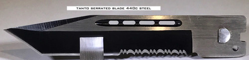 Large Hellion Tanto Serrated Edge Replacement Blade
