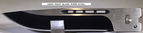 Large Hellion Drop Point Straight Edge Replacement Blade