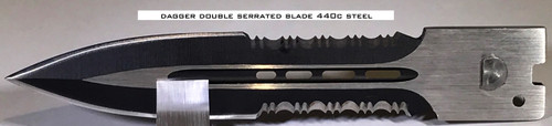 Large Hellion Dagger Double Serrated Edge Replacement Blade