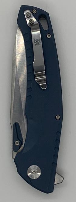 Scorpion Tactical Side Folder Knife Blue