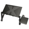 Ergonomic Adjustable Aluminum Portable Laptop Desk Stand With Mouse Pad - Home Office Essentials