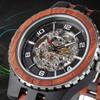 Premium Self-Winding Transparent Body Ebony Rosewood Watch