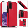 Luxury Slim Fit Premium Leather Wallet Phone Case with Shockproof Flip Shell and Card Holder - Samsung Galaxy S20 Ultra, S20 Plus and S20