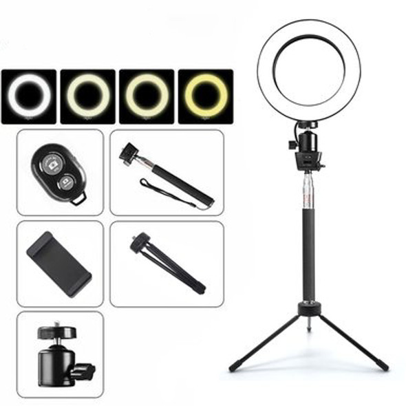Dimmable LED Selfie Ring Light 3200 5500k with Phone Holder USB Plug