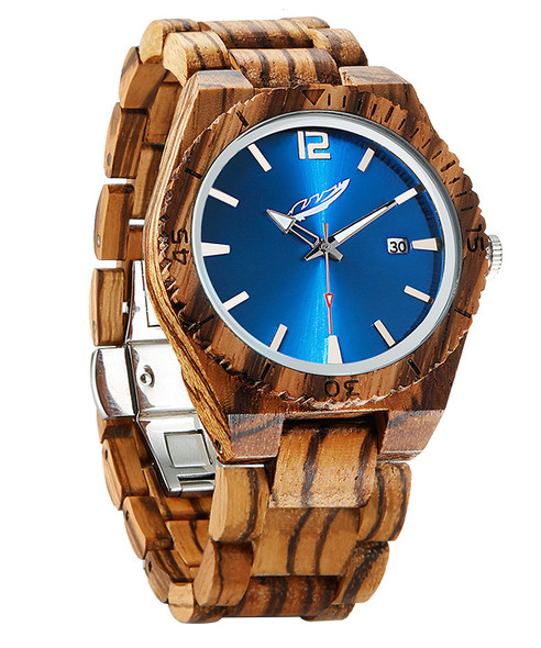 Men's Hand Made Zebrawood Watch
