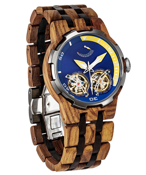 Dual Wheel Automatic Ambila Premium Wood Watch