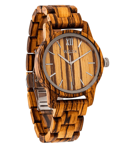 Natural Wood Handmade Zebra Wooden Watch
