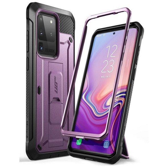 Full Body Fitted Phone Case with Holster and Kickstand without Screen Protector - For Samsung Galaxy S20 Ultra 5G