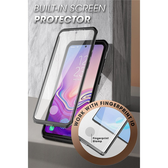 Full Body Fitted Phone Case with Holster, Built-in Screen Protector & Kickstand - For Samsung Galaxy S20 Ultra 5G