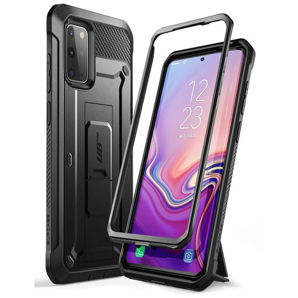 Full Body Fitted Phone Case with Holster and Kickstand without Screen Protector - For Samsung Galaxy S20 Plus 5G