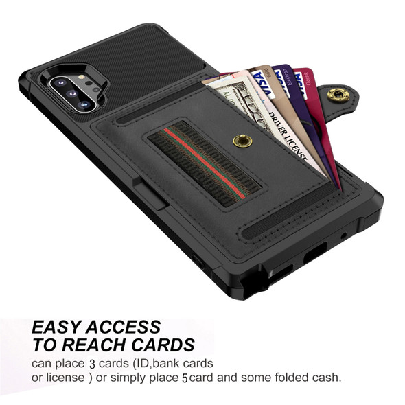 Hard Back and Leather Phone Cover with Flip Wallet and Photo Holder - Samsung S10 and Note10