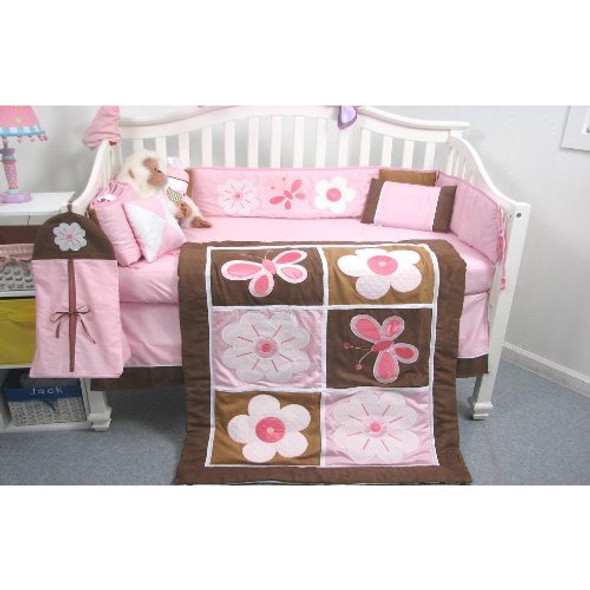 Baby Crib Nursery Bedding Decorative Set - Floral Garden