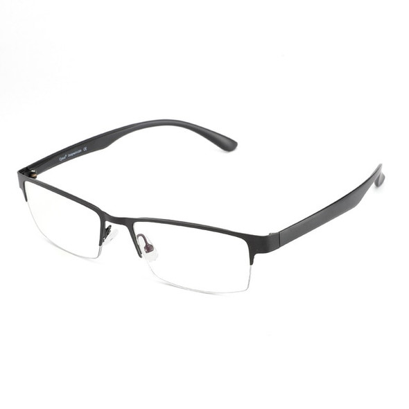 Professional Blue Light Blocking Ani-Eyestrain Computer Glasses with UV Protection - Semi-Rimless Metal Rectangle Eyeglasses for Men and Women