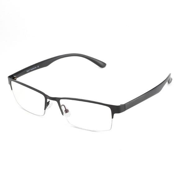 Professional Blue Light Blocking Ani-Eyestrain Computer Glasses with UV Protection - Semi-Rimless Metal Rectangle Eyeglasses for Men and Women