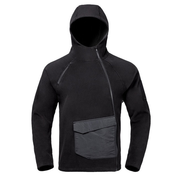 Tactical Fleece Windproof Autumn Jacket with Hood - Light and Warm for Camping, Hiking, and Outdoor Activities