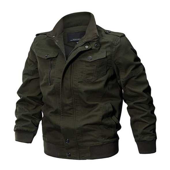 Military Slim Fit Pilot Bomber Jacket with Safari Cotton - Men's Autumn and Winter Army Jacket