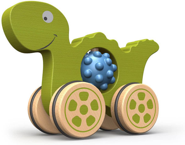 Nubble Rumbler Dino - Eco Friendly Wood And Rubber Toddler Toy - autumn dreams store
