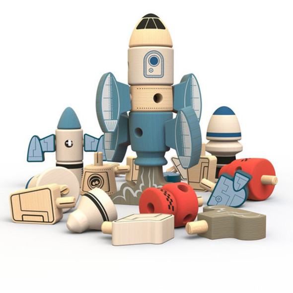 eco-friendly wood toy rockets -autumn dreams store