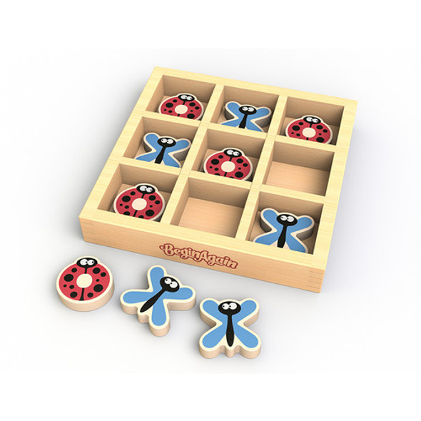 Tic tack toe wood game set