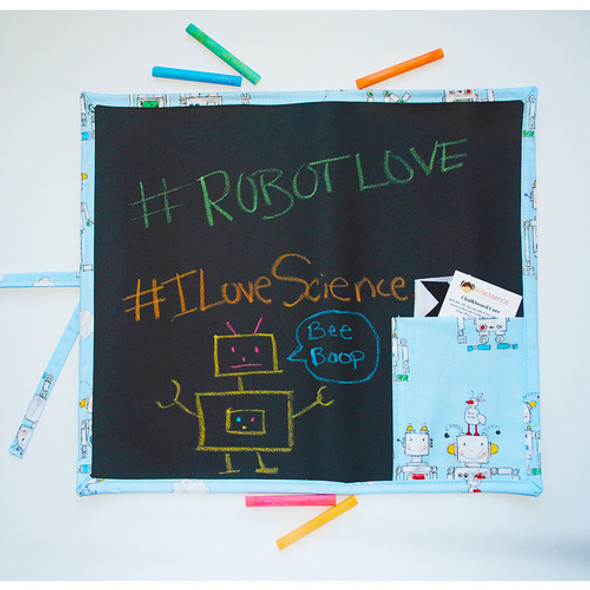 Robots Roll Up Travel Chalkboard Art Toy