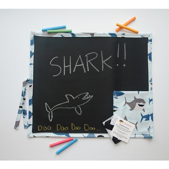 Shark Girl Roll Up Travel Chalkboard Art Toy