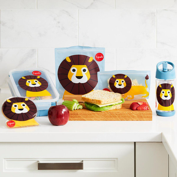 Children's Complete 9 Piece Lunch Kit - Kids On The Go Lion Lunch Set - Autumn Dreams Store