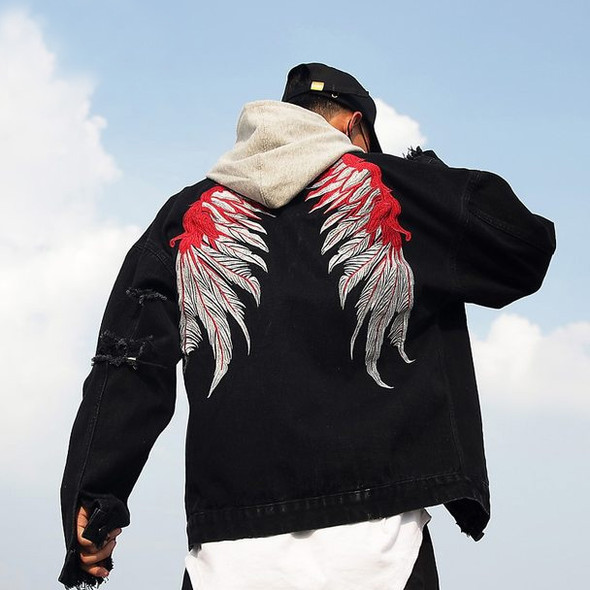 Winged Denim Jacket - Autumn Dreams Store