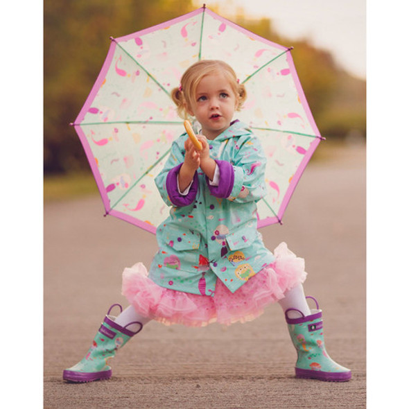 Children's Mermaid Raincoat, Rain Boots and Umbrella Set - Autumn dreams Store