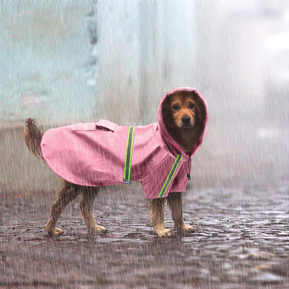 Full-Length Reflective Raincoat with Hood for Small Medium Large Dogs