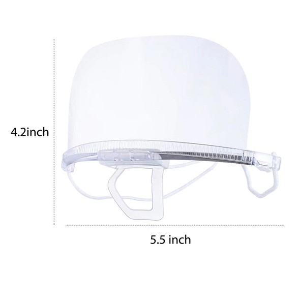 Professional Hygienic Plastic Mouth and Nose Face Shield - Transparent Protective Safety Visor with Anti Fog , and Anti Splash Guard- Box of 10