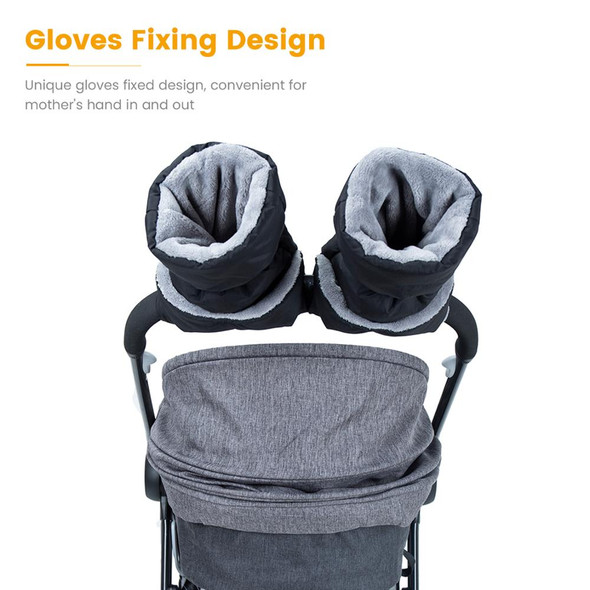 Winter Windproof Stroller Gloves – Warm Weatherproof Hand Covers for Baby Strollers