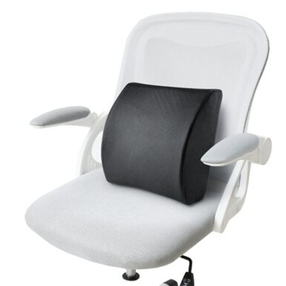 Memory Foam Back Cushion and Lumbar Support with Breathable 3D Mesh Cover for Office Chair or Car Seat