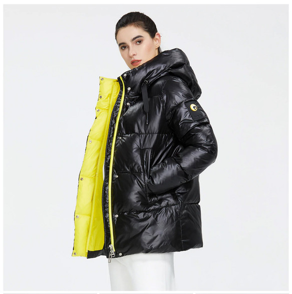 Premium Down Winter Puffer Coat – European Style Women's Hooded Thick Winter Jacket