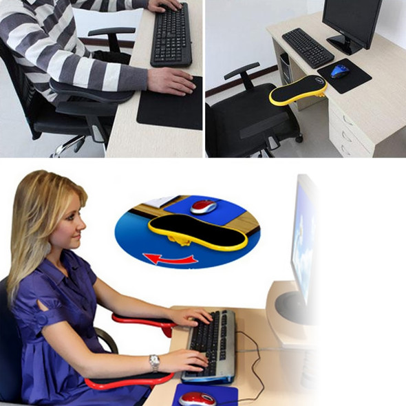 Attachable Armrest Support Pad for Desk and Chair - Shoulder, Arm, and Wrist Rest for Online School, Work, and Gaming