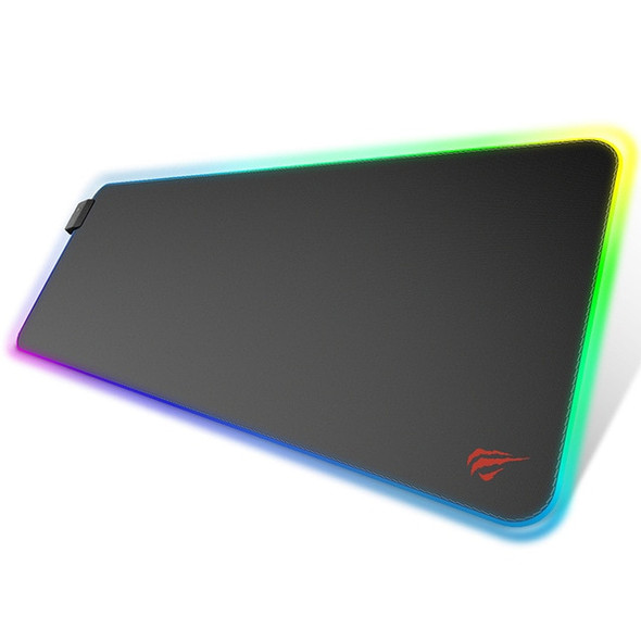 RGB LED Lighting Gaming Non-Slip Mouse Pad - Illuminated Keyboard Mat and Mouse Pad