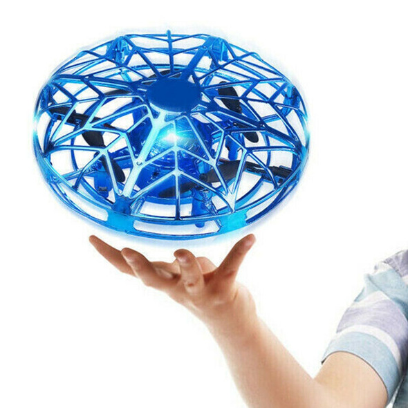 Hand Operated Mini Flying Drone - Kids Helicopter Toy LED Quadcopter