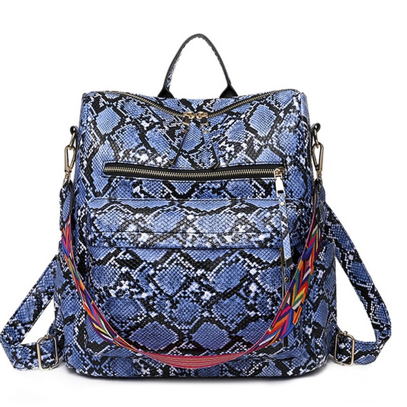 Leather High Capacity Shoulder Bag and Backpack - Women's Multi-Style Leather Bags
