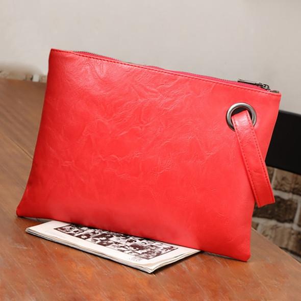 Luxury Designer Leather Clutch Handbag - Women's Envelope Evening Bag