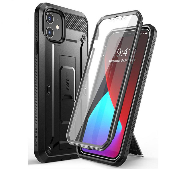 """Full-Body Rugged Case For iPhone 12 Pro 6.1"""" - High-Grade Holster Cover with Built-in Screen Protector & Kickstand"""