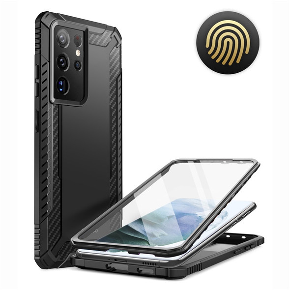 """Rugged Full Body Cover for Samsung Galaxy S21 Ultra 6.8"""" - All-around Protection with Built-in Screen Protector"""