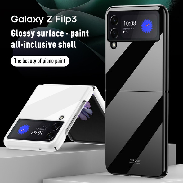 Samsung Galaxy Z Flip 3 Ultra-Thin Color Embossing Protective Cover with 360 All-Round Protection