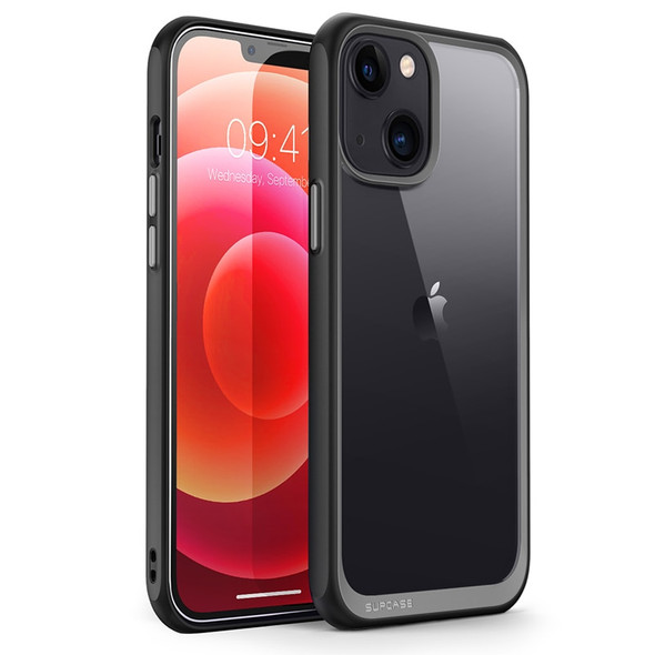 iPhone 13 6.1 inch Premium Hybrid Protective Bumper Case with Clear Back Cover