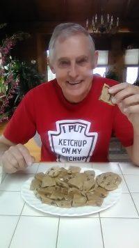 Steve with Sally's Cookies