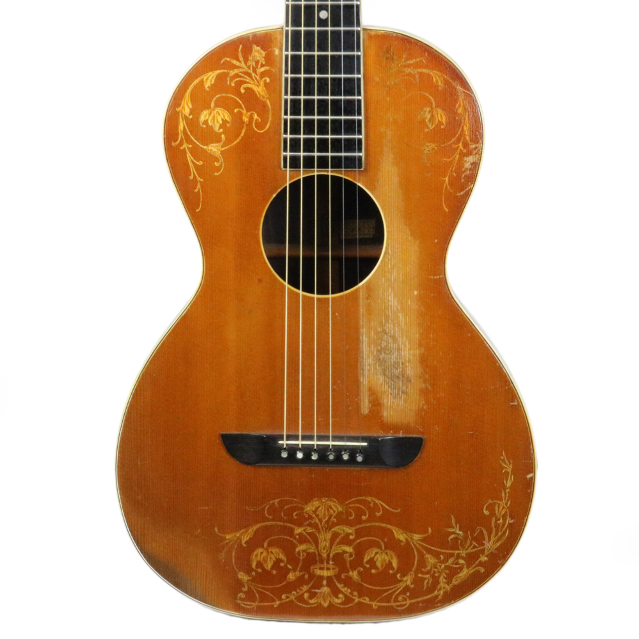 10c02d4448 Used G.E. Smith's Vintage 1920's Washburn Lyon & Healy Style A Parlor Guitar  | Cream City Music