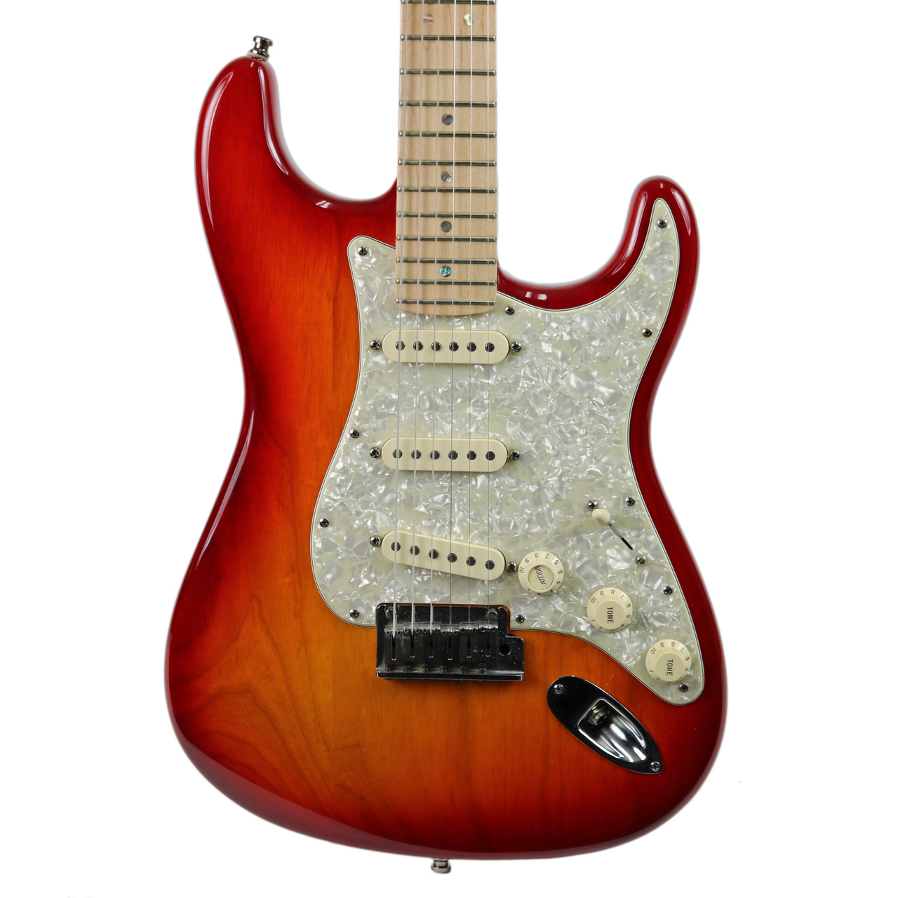 Used 2009 Fender American Deluxe Stratocaster Cherry