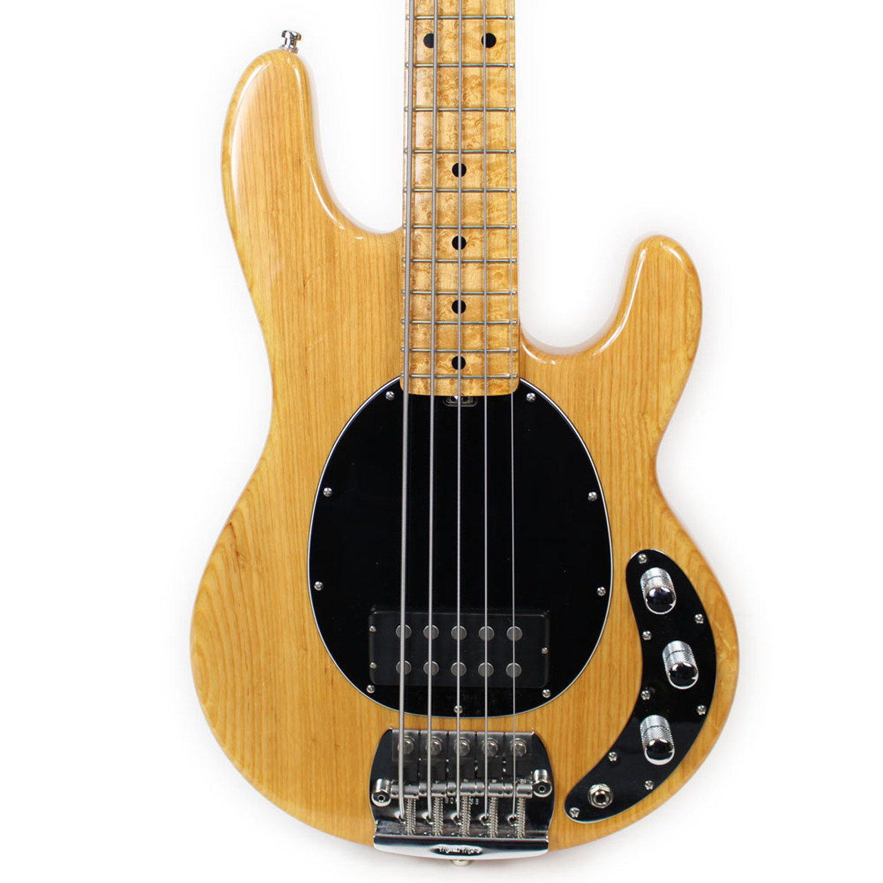 used musicman stingray classic 5 string electric bass guitar in natural finish cream city music. Black Bedroom Furniture Sets. Home Design Ideas