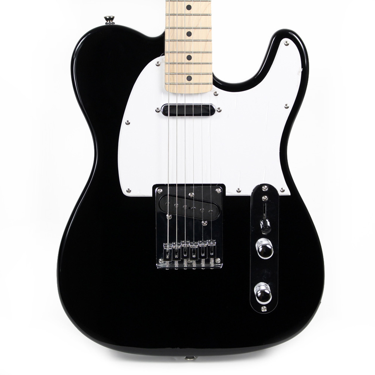 new fender squier bullet tele electric guitar in black cream city music. Black Bedroom Furniture Sets. Home Design Ideas