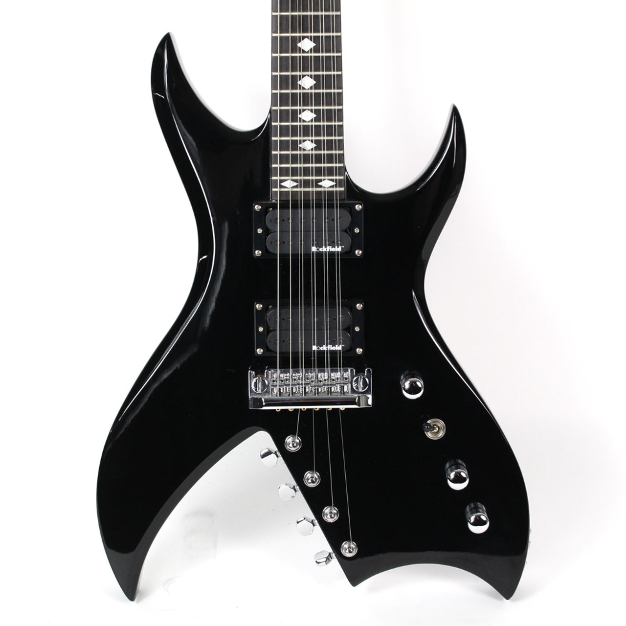 used bc rich bich 10 string electric guitar black cream city music. Black Bedroom Furniture Sets. Home Design Ideas