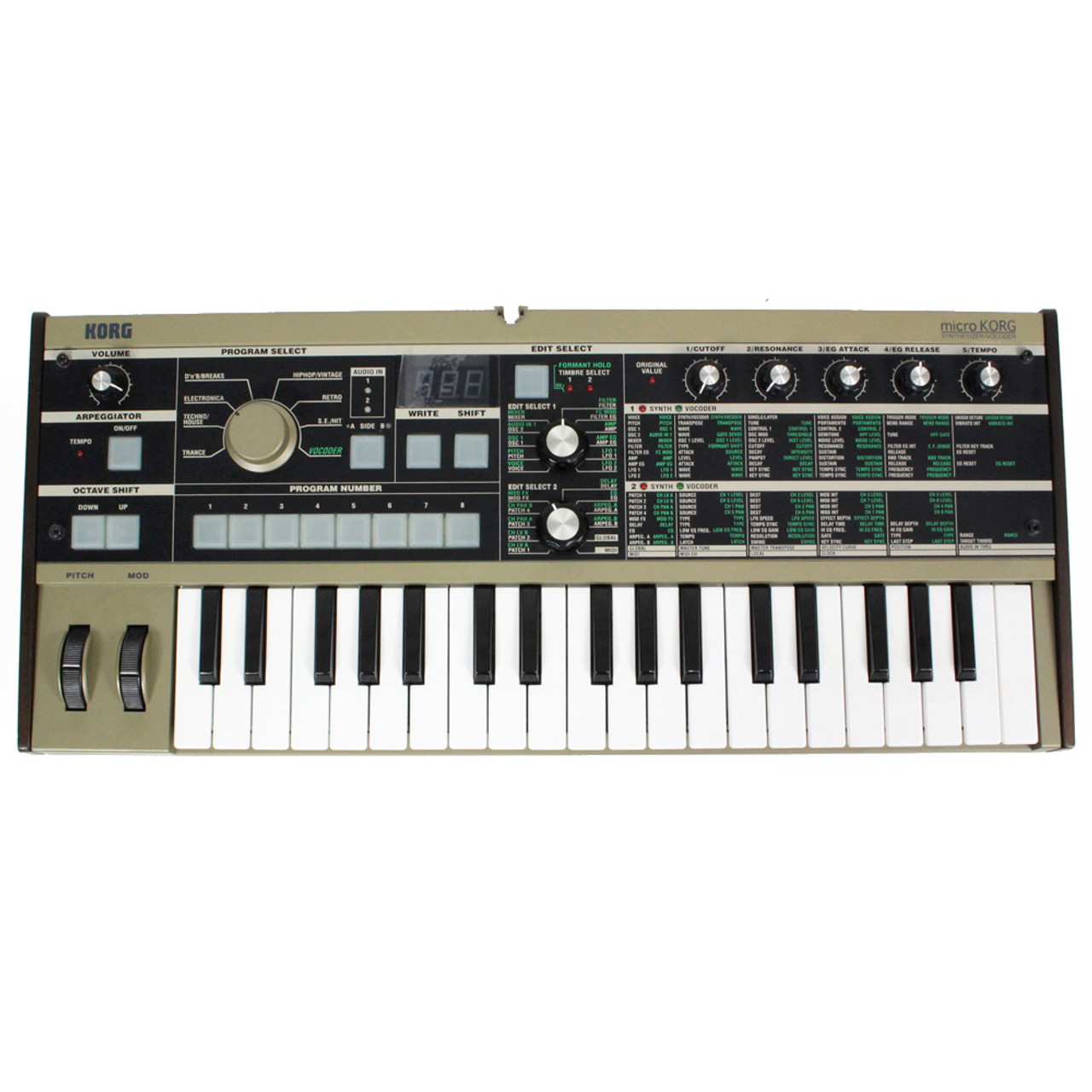 Used Korg microKORG Synthesizer/Vocoder