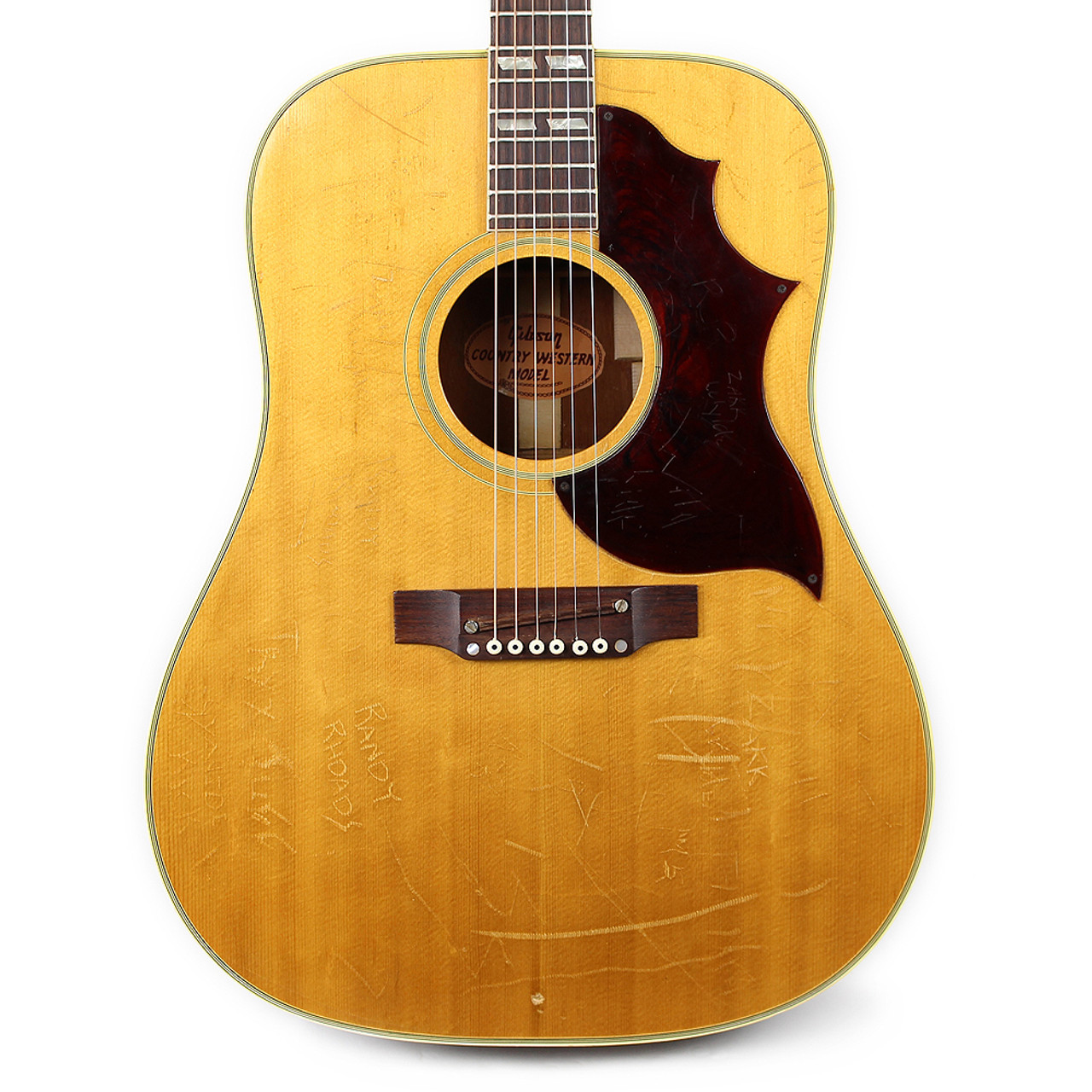 Vintage 1968 Gibson Country Western Dreadnought Acoustic Guitar Natural Finish